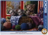 Strickende Kätzchen (Puzzle)