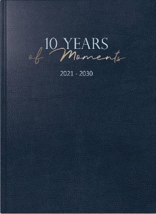 10-Jahres-Kalender 10 Years of Moments,  2021-2030, blau