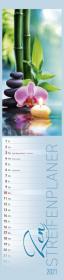 Streifenplaner Zen 2021 - Streifen-Kalender 11,3x49x5 cm - Harmonie und Achtsamkeit - Küchenkalender - Wandplaner - Alph