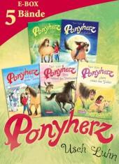 Ponyherz: Band 1-5 der beliebten Pferde-Abenteuer-Serie in einer E-Box!