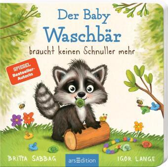 Der Baby Waschbär braucht keinen Schnuller mehr