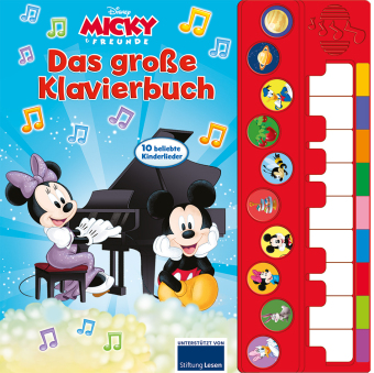 Disney Micky & Friends - Das große Klavierbuch, m. Klaviertastatur u. Soundeffekten