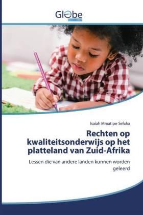 Rechten op kwaliteitsonderwijs op het platteland van Zuid-Afrika