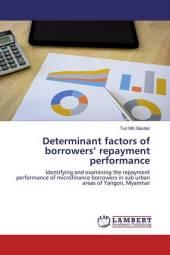 Determinant factors of borrowers' repayment performance