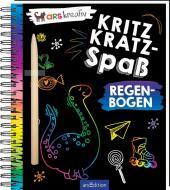 Kritzkratz-Spaß Regenbogen, m. Stift