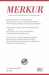 MERKUR Gegründet 1947 als Deutsche Zeitschrift für europäisches Denken - 2020-04