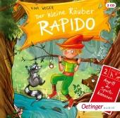 Der kleine Räuber Rapido - Angriff der Sportskanonen, 2 Audio-CD Cover