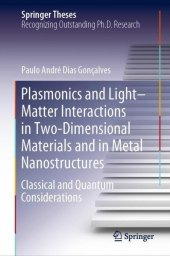 Plasmonics and Light-Matter Interactions in Two-Dimensional Materials and in Metal Nanostructures