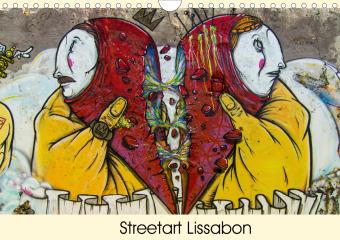 Streetart Lissabon (Wandkalender 2021 DIN A4 quer)