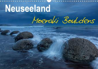 Neuseeland - Moeraki Boulders (Wandkalender 2021 DIN A3 quer)