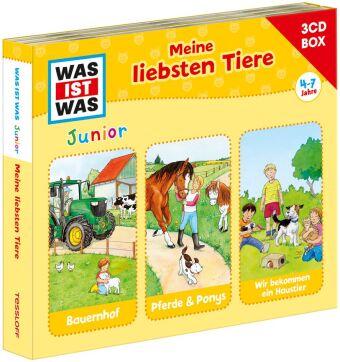 WAS IST WAS Junior 3-CD Hörspielbox. Meine liebsten Tiere, Audio-CD