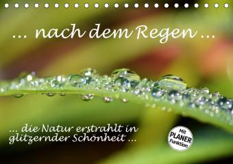 ... nach dem Regen ... die Natur erstrahlt in glitzernder Schönheit (Tischkalender 2021 DIN A5 quer)
