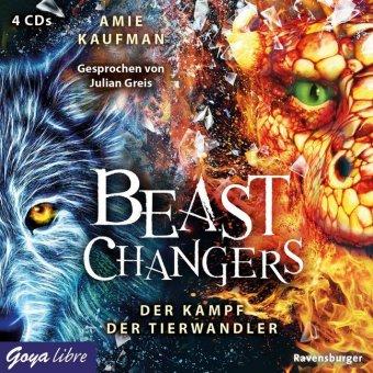 Beast Changers - Der Kampf der Tierwandler, 4 Audio-CD