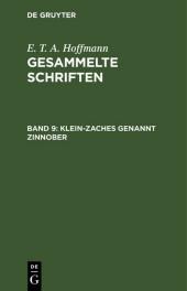 Klein-Zaches genannt Zinnober
