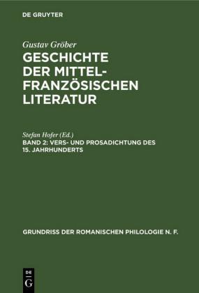 Vers- und Prosadichtung des 15. Jahrhunderts