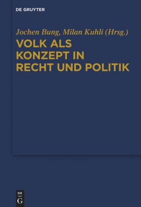 Volk als Konzept in Recht und Politik