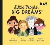 Little People, Big Dreams - Teil 1: Maria Montessori, Jane Goodall, Agatha Christie, Stephen Hawking, 1 Audio-CD Cover