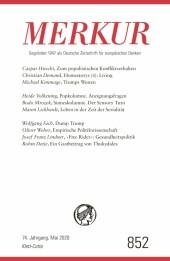 MERKUR Gegründet 1947 als Deutsche Zeitschrift für europäisches Denken - 2020-05