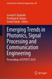 Emerging Trends in Photonics, Signal Processing and Communication Engineering