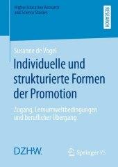 Individuelle und strukturierte Formen der Promotion