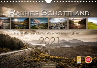 Rauhes Schottland (Wandkalender 2021 DIN A4 quer)