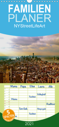 NYStreetLifeArt - Familienplaner hoch (Wandkalender 2021 , 21 cm x 45 cm, hoch)