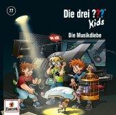 Die drei ??? Kids - Die Musikdiebe, 1 Audio-CD Cover