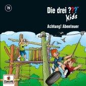 Die drei ??? Kids - Achtung, Abenteuer, 1 Audio-CD Cover