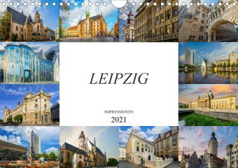 Leipzig Impressionen (Wandkalender 2021 DIN A4 quer)