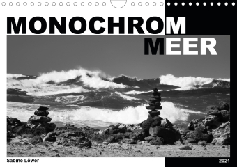 Monochrom Meer (Wandkalender 2021 DIN A4 quer)