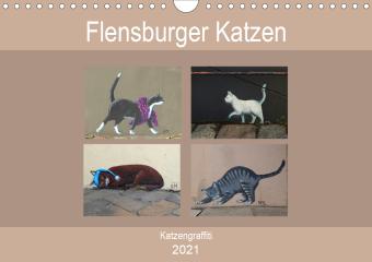 Flensburger Katzen (Wandkalender 2021 DIN A4 quer)