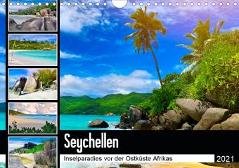 Seychellen - Inselparadies vor der Ostküste Afrikas (Wandkalender 2021 DIN A4 quer)
