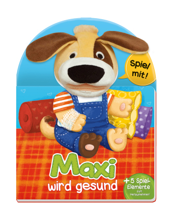 Maxi wird gesund, m. Handpuppe u. Spiel-Elementen