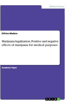 Marijuana legalization. Positive and negative effects of marijuana for medical purposes