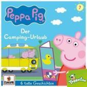 Peppa Pig Hörspiele - Der Camping-Urlaub (und 5 weitere Geschichten), 1 Audio-CD Cover