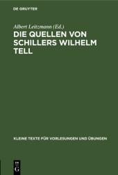 Die Quellen von Schillers Wilhelm Tell