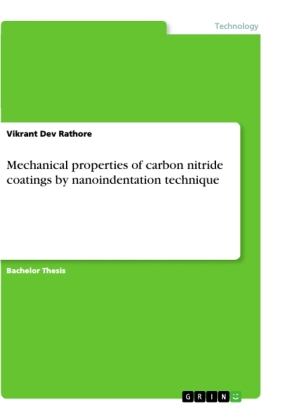 Mechanical properties of carbon nitride coatings by nanoindentation technique