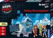 Krimi-Puzzle: Die drei ??? Kids 150 Teile - Achtung, Meeresungeheuer! (Kinderspiel)
