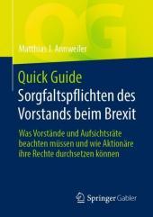 Quick Guide Sorgfaltspflichten des Vorstands beim Brexit