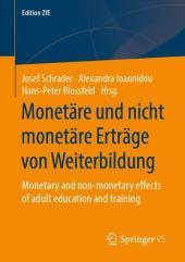 Monetäre und nicht monetäre Erträge von Weiterbildung