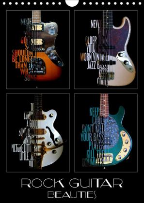 Rock Guitar Beauties (Wall Calendar 2021 DIN A4 Portrait)