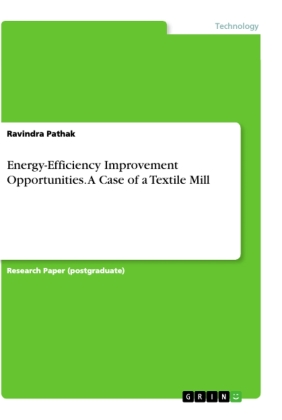 Energy-Efficiency Improvement Opportunities. A Case of a Textile Mill