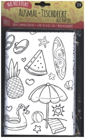 Mal Mich Bunt Ausmal-Tischdecke aus Papier, Motiv Sommer und Urlaub