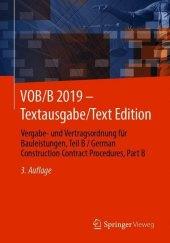 VOB/B 2019 - Textausgabe/Text Edition