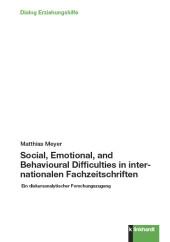 Social, Emotional, and Behavioural Difficulties in internationalen Fachzeitschriften