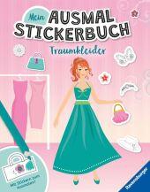 Mein Ausmal-Stickerbuch: Traumkleider