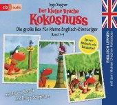 Englisch lernen mit dem kleinen Drachen Kokosnuss - Die große Box für kleine Englisch-Einsteiger (Band 1-3); .