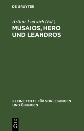 Musaios, Hero und Leandros