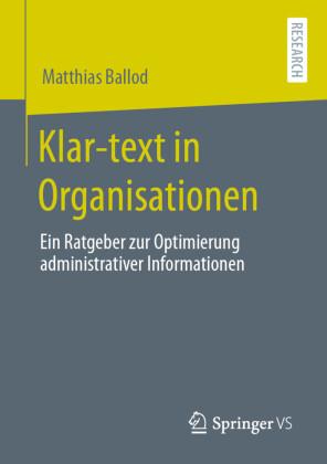 Klar-text in Organisationen