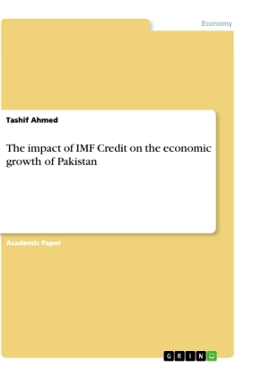 The impact of IMF Credit on the economic growth of Pakistan